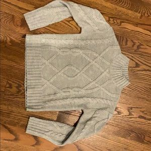 NWT Gap Gray Cableknit Sweater, Size Small